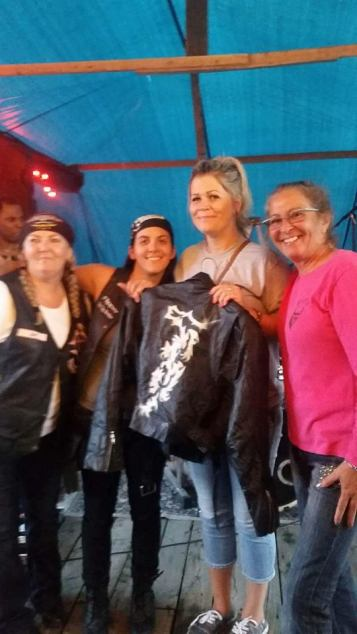 White Knucklerz RC Donated a Leather Jacket Signed by Josie herself for the 10th Annual Ride for Josie. which was presented to her daughter Roxy ...2016